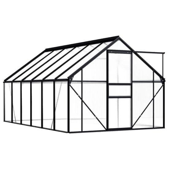 shumee Rastlinjak antraciten iz aluminija 7,03 m²