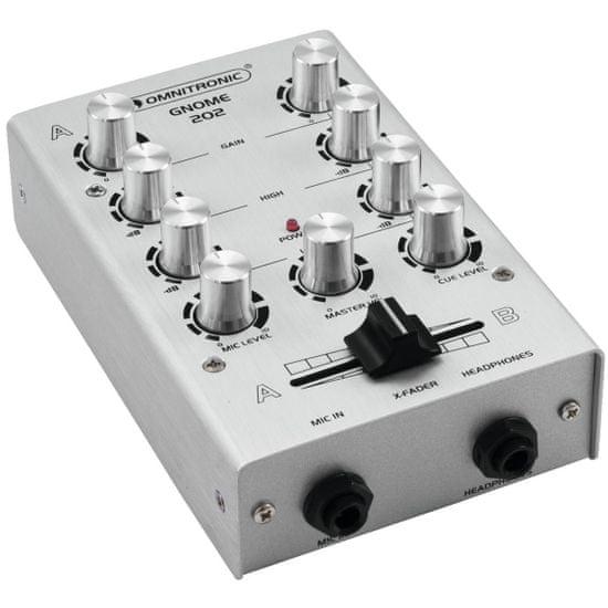 Omnitronic GNOME-202, 2-kanálový, stříbrný