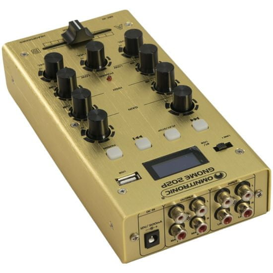 Omnitronic GNOME-202P, 2-kanálový, USB, MP3, Bluetooth, zlatý