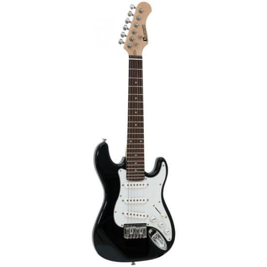 Dimavery J-350, elektrická kytara pro děti, černá