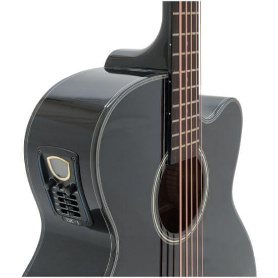 Dimavery AB-455, elektroakustická baskytara pětistrunná, černá