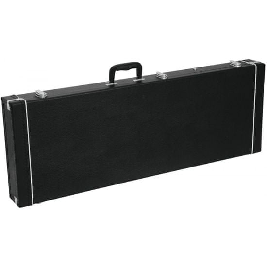 Dimavery drevený kufor pre elektrickú basu, čierny