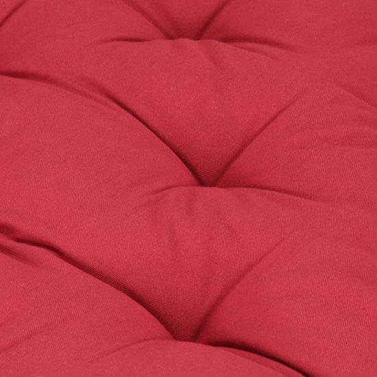shumee burgundi vörös pamut raklappadló-párna 120 x 80 x 10 cm