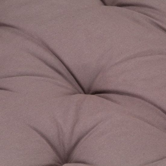 shumee tópszínű pamut raklappadló-párna 120 x 80 x 10 cm