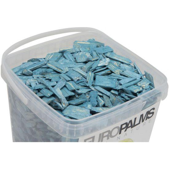 Europalms Dekorační dřevěné štěpky modré, balení 5,5 litru