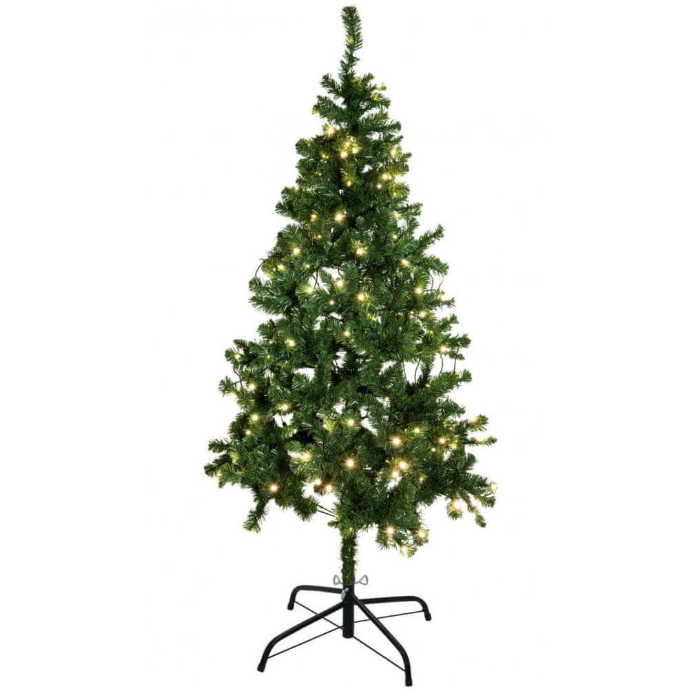 Europalms Umělý vánoční stromek s LED bílými žárovkami, 210 cm
