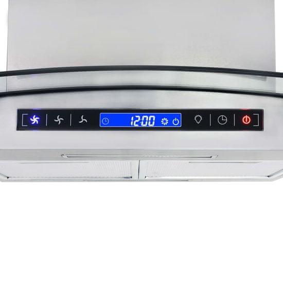 shumee Okap z dotykowym wyświetlaczem, 90 cm, LCD i LED, 756 m³/h