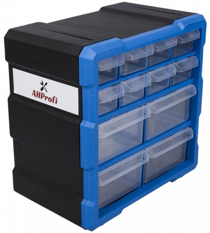 AHProfi Plastový organizér / box na šroubky, 12 rozdělovníků - MW1507 | AHProfi