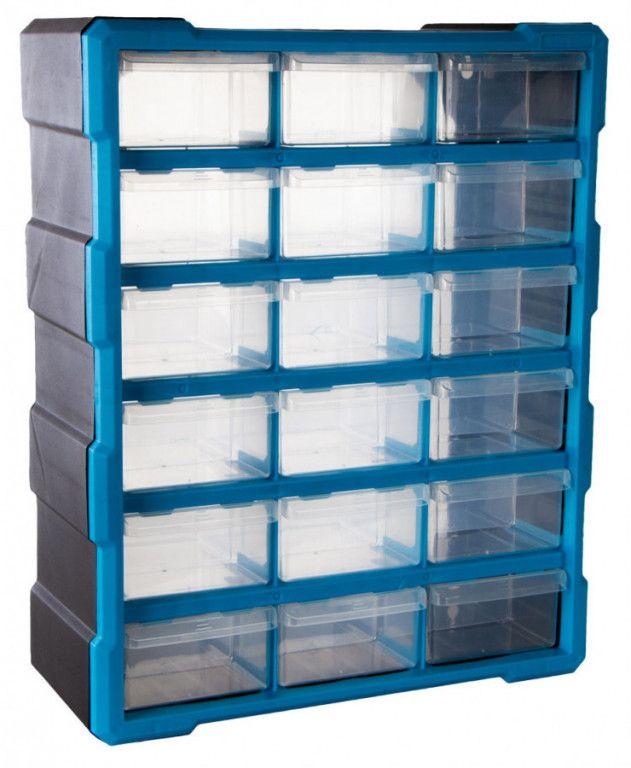 AHProfi Plastový organizér / box na šroubky, 18 rozdělovníků - MW1506 | AHProfi