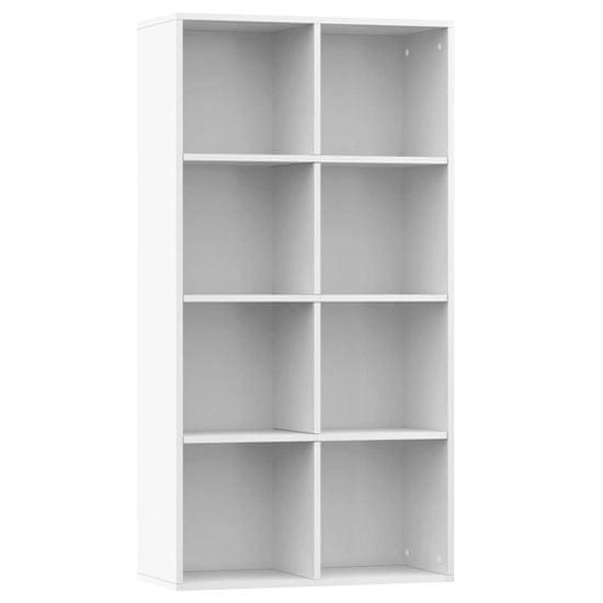 shumee Knjižna omara / komoda visok sijaj bela 66x30x130 cm