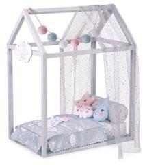 DeCuevas 54929 Drveni krevet za lutke DOMEČEK s dodacima Martin