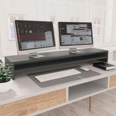 shumee Podstawka pod monitor, szara, 100x24x13 cm, płyta wiórowa