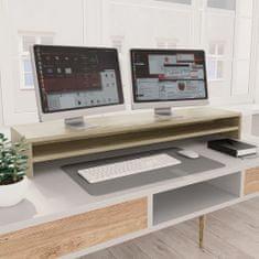 Greatstore Stojan na monitor dub sonoma 100 x 24 x 13 cm dřevotříska