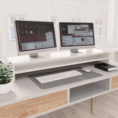 shumee Podstawka pod monitor, wysoki połysk, biała, 100x24x13 cm