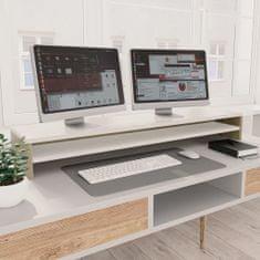 shumee Podstawka pod monitor, biel i dąb sonoma, 100x24x13 cm