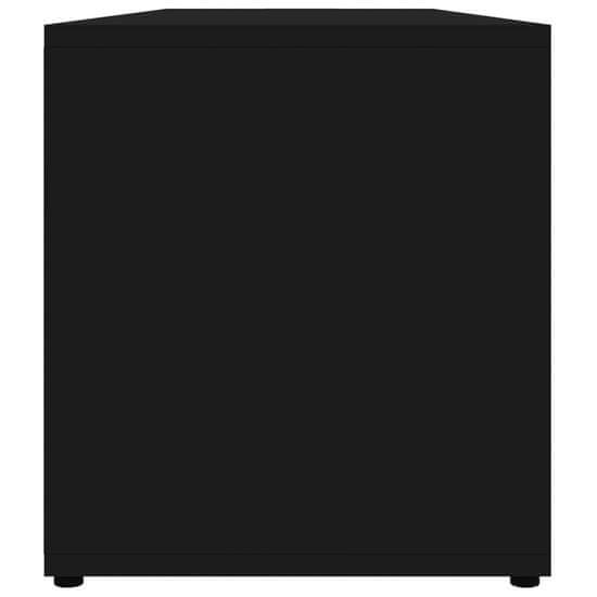 shumee Szafka pod TV, czarna na wysoki połysk, 120x34x37 cm