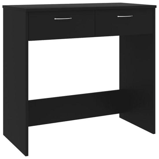 shumee fekete forgácslap íróasztal 80 x 40 x 75 cm