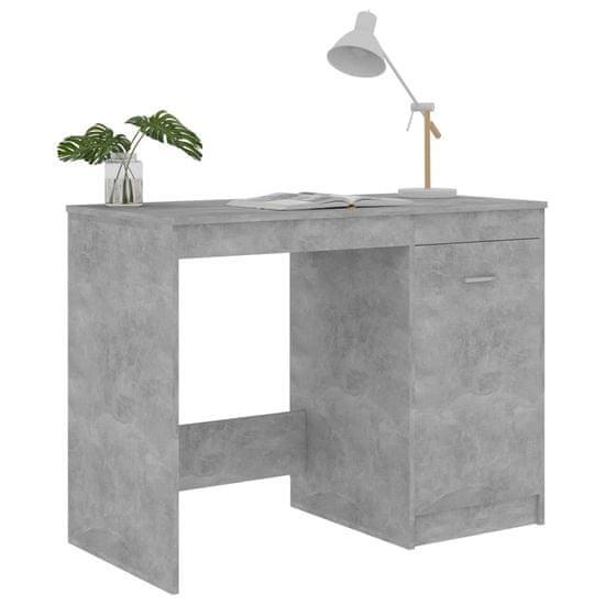shumee Biurko, szarość betonu, 100x50x76 cm, płyta wiórowa