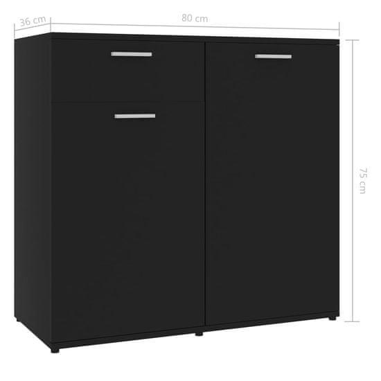 shumee Szafka, czarna, 80x36x75 cm, płyta wiórowa