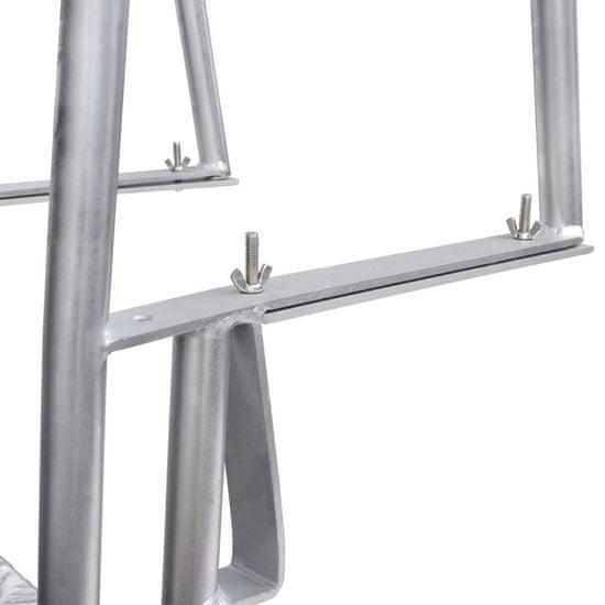 shumee Lestev za bazen z 4 stopnicami aluminij 167 cm