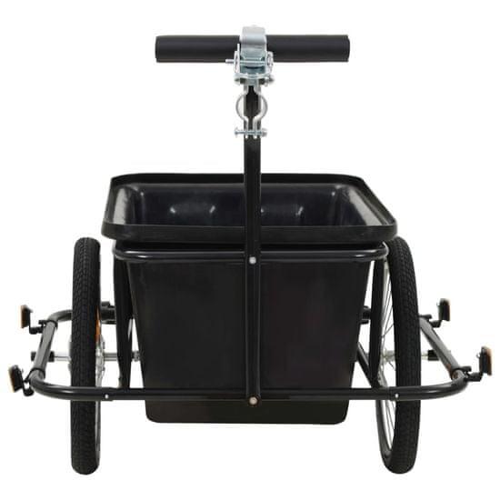 Greatstore Přívěsný vozík za kolo černý 50 l