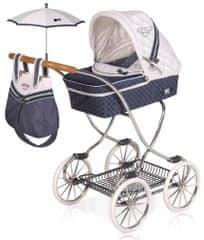 DeCuevas 80237 Voziček za punčke z dežnikom in dodatki TOP Collection