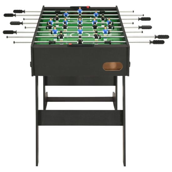 shumee fekete összecsukható csocsóasztal 121 x 61 x 80 cm