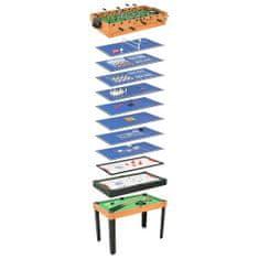 shumee 15 v 1 multifunkčný herný stôl javorová farba 121x61x82 cm