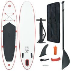 shumee Nafukovací Stand Up Paddleboard (SUP) červenobílý