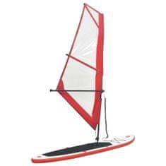 shumee Nafukovací Stand Up Paddleboard s plachtou červenobílý