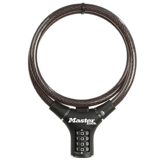MasterLock 8229EURDPRO Ocelové kombinační lanko 0,9m na kolo