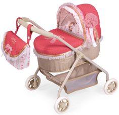 DeCuevas 86033 Moj prvi voziček za punčke z vrečko in dodatki Martina