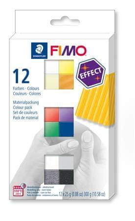 Staedtler FIMO® effect sada 12 barev 25g