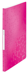 Leitz mapa A4 PP s mapama 20/1 WOW, roza