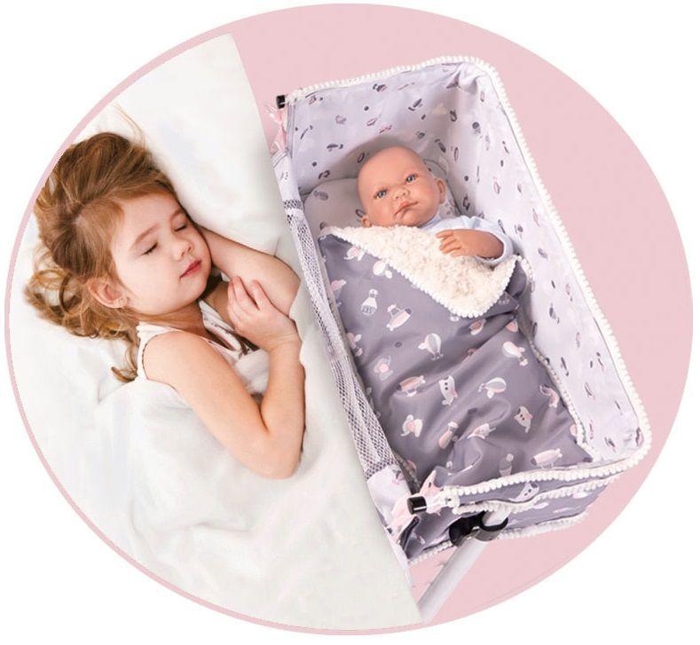 DeCuevas SKY Novorozenecká postýlka pro panenky s doplňky