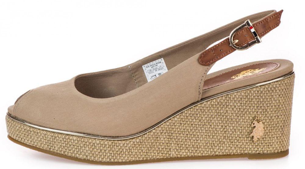 U.S. Polo Assn. dámské sandály VICTORIA 4089S0/CY1 36 béžová