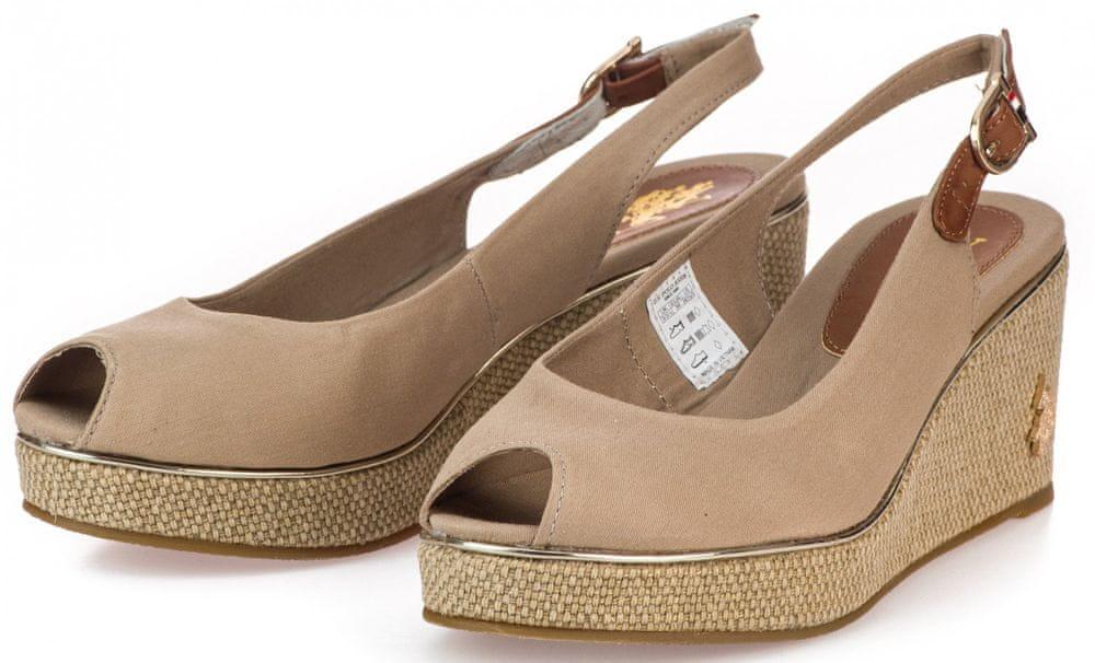 U.S. Polo Assn. dámské sandály VICTORIA 4089S0/CY1 37 béžová