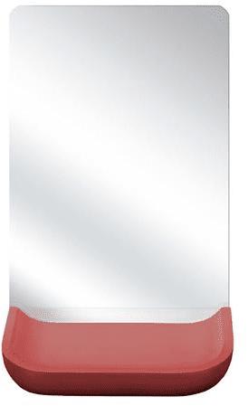 Kleine Wolke Kozmetično ogledalo Tray, rdeče