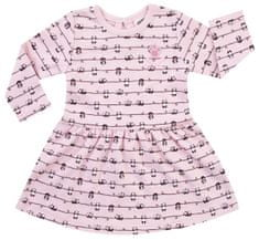 JACKY dievčenské šaty s dlhým rukávom PANDA LOVE 62 ružová