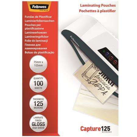Fellowes Laminovacie fólie, lesklá, 125 micron, 75x105 mm