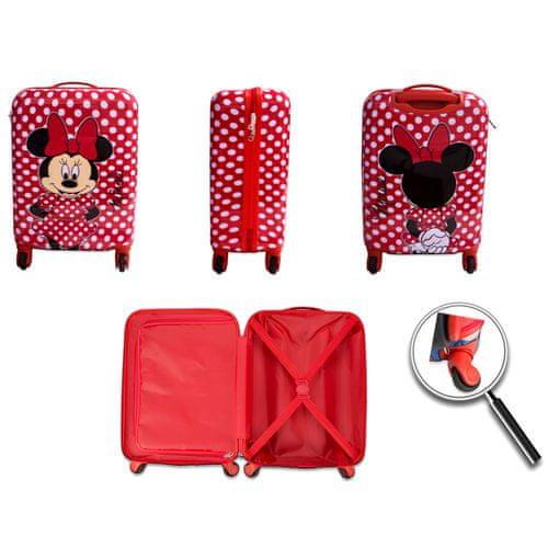 """Eplusm Otroški potovalni kovček ABS na kolesih """"Minnie Mouse"""" - rdeča"""