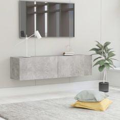 shumee TV stolek betonově šedý 120 x 30 x 30 cm dřevotříska