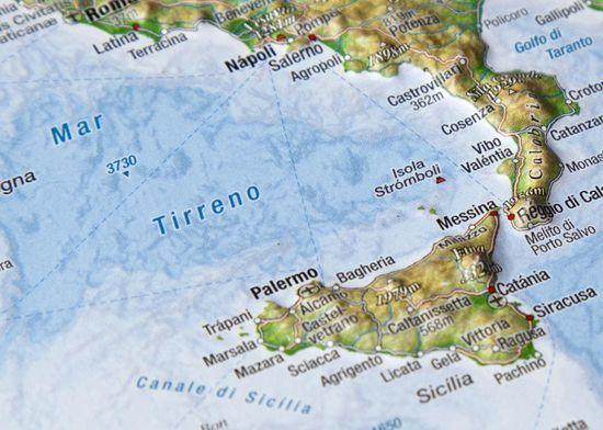 World Maps Taliansko reliéfna 3D mapka 14,8x10,5cm