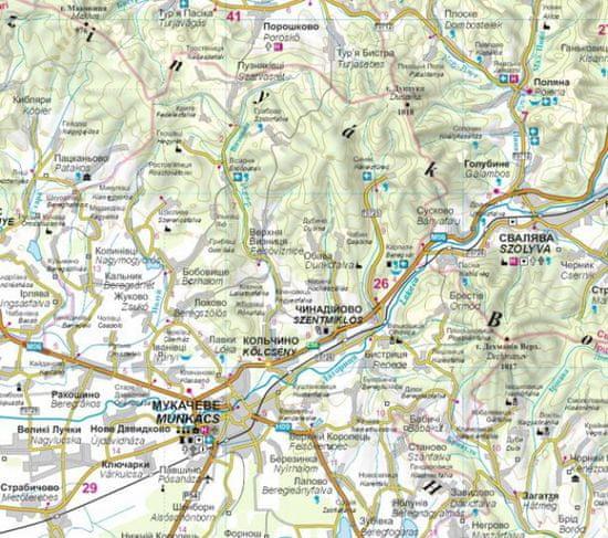 World Maps Zakarpatská oblasť 1:250t turistická automapa