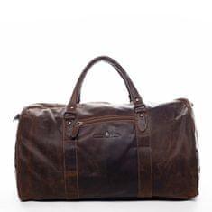 Green Wood Velká kožená cestovní taška Antoine Green Wood