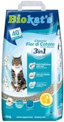 Biokat's Natural Cotton Blossom mačji WC pijesak, 10 kg