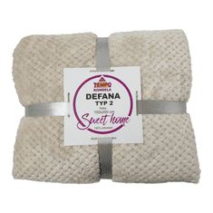 Tempo Kondela Oboustranná deka, béžovošedá, 150x200, DEFANA TYP 2