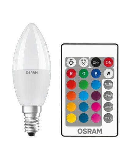 Osram LED STAR+ CLB RGBWFR 40 DIM 5,5W/827 E14