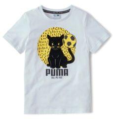 Puma detské tričko Animals Suede Tee 104 biela