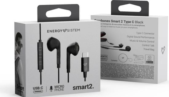 Energy Sistem słuchawki Smart 2 USB Type C, czarne